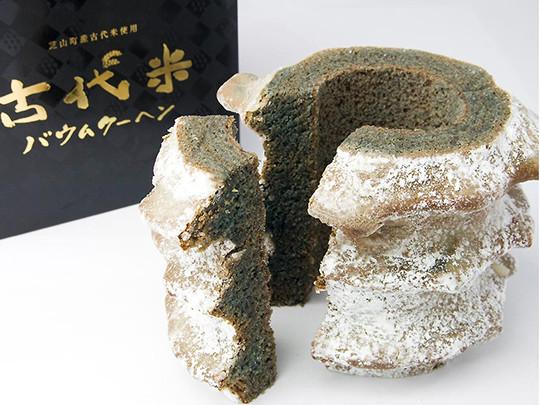 古代米バウムクーヘン