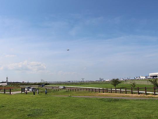 世界各国の航空機が飛び交う景色を一望